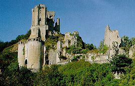Lavardin castle Loir valley bed and breakfast